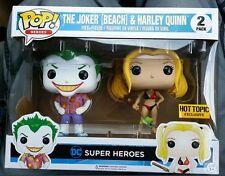 FUNKO POP DC HEROES JOKER BEACH & HARLEY QUINN HOT TOPIC EXCLUSIVE PACK