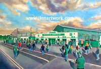Home Park Stadium GTM Fine Art A4 Print - Plymouth Argyle Football Club
