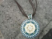 Pendant. Green and silver pendant