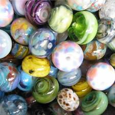 DFJ Lampwork USA 25 Handmade Glass Spacer Beads Orphan Grab Bag Lot Assort sra