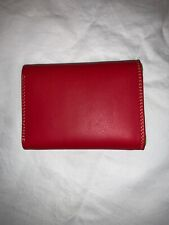 Mywalit Trifold Mini Wallet Red Leather Great Condition
