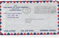 jamacia 1958 slogan airmail front stamps cover  ref 10126