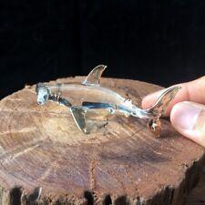 New Hammer Head Shark Hand Blown Glass Figurine Collectibles Art Glass Decor