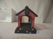 "Dept 56 Heritage Village Collection ""Red Covered Bridge"" 5987-0 Euc"