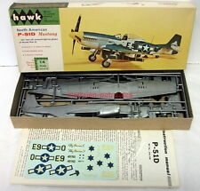 "Hawk 546~NA P-51D Mustang~1/4""Scale~1964~Plastic Model Kit~USAAF/Israel,Post-WW2"