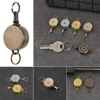 Stationery Metal Anti-Lost Clip Key Ring Badge Holder Lanyards Retractable