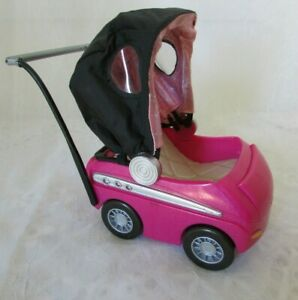 "Bratz Doll Doll  TM & MGA Hot Pink Baby Stroller/Car  5 1/4 "" x 5"""