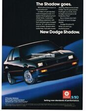 1986 Dodge Shadow ES Black Vintage Ad
