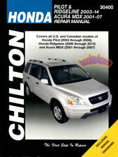 SHOP MANUAL PILOT RIDGELINE SERVICE REPAIR HONDA CHILTON BOOK HAYNES
