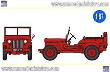 JEEP Pompier bache 226 REE MODELES - RECB 089 - Echelle 1/87