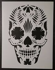 "Day of the Dead Dia de los Muertos Sugar Skull 8.5"" x 11"" Stencil FREE SHIPPING"