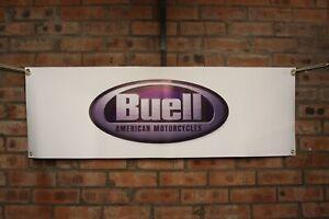 Buell Rw 750 Road Warrior RR 1000 Batalla Tw Grande PVC Garaje Taller Bandera