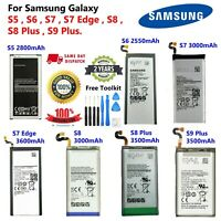 OEM For Samsung Galaxy S5,S6,S7,S7 Edge,S8, S8+ & S9 Plus Battery NEW Free Tools