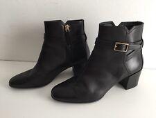 ee62a2b8abdafe Damen Leder Stiefel Stiefelette Ankle Boots mit Schnalle HUGO BOSS schwarz  Gr.36