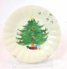 "Blue Ridge Southern Potteries Christmas Tree SAUCER Hand Painted Misletoe 6"""