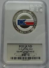10 ZLOTYCH POLAND 2004 POLAND JOINING THE EU MS70