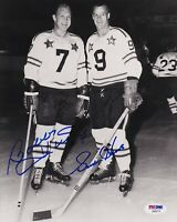 PSA/DNA BOBBY HULL & GORDIE HOWE AUTOGRAPHED NHL ALL-STAR GAME 8X10 PHOTO B03775