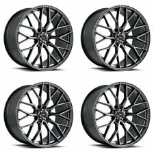 "22"" SAVINI SV-F2 GRAPHITE CONCAVE FORGED WHEELS RIMS FITS DODGE CHARGER RT SRT8"