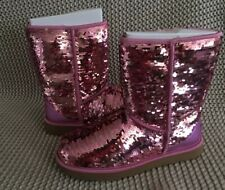 UGG CLASSIC SHORT SEQUIN PINK BOOTS WOMENS SIZE 9
