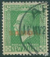 Samoa 1916 SG134 ½d yellow-green KGV FU