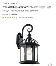 Transglobe Lighting 4181 Bk Wall Sconce (1 Pair) Outdoor Black Coach Lantern New