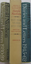 English Diplomat Author 3 Vols Diaries Letters Harold Nicolson Sackville West