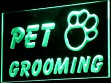 i276-g OPEN PET GROOMING Shop Dog Cat Neon Light Sign