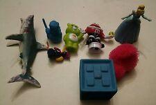 000 Toy Chest Bin Lot 8 Pieces. Light up Chicken M&M Care Bear Cinderella Etc