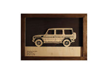 Car Wood Picture With Mercedes G W463 3D Image Frame Home Office Wall Decor