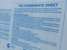 New Listinglexan Polycarbonate Sheet Clear 316 X 12 X 24 Thermoforming Makrolon