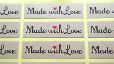 48 Stickers 'Handmade - love' for any handmade project candles soap melts bakery