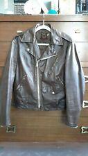 vintage schott brown leather motorcycle jacket 38