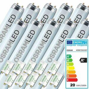 10x OSRAM LED Röhre Substitube 19 Watt mit Ersatzstarter 150cm lang wie 58W G13