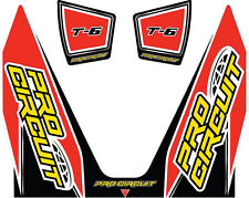 PRO CIRCUIT T-6 WRAP/END CAP DECAL REPLACEMENT MUFFLER STICKERS