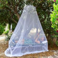 White Mosquito Net Indoor/Outdoor Large Bed Canopy Fine Mesh Singe to Queen Size