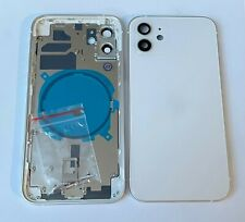 Châssis arrière IPHONE 12 BLANC WHITE avec vitre arrière / AVEC LOGO, ENVOI 24H