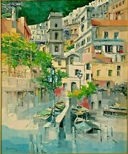 Antonio DiViccaro Original Palette knife Oil Painting Positano Italy Di Viccaro