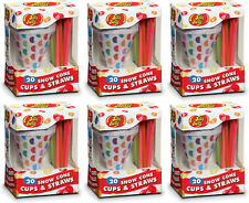 Jelly Belly Snowcone Cups & Straws 20 Count (6 Pack)