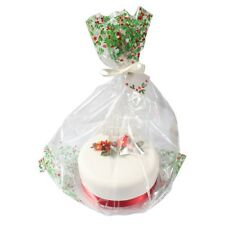 Large Cellophane Christmas Cake Hamper Bag with Ribbon and Gift Card