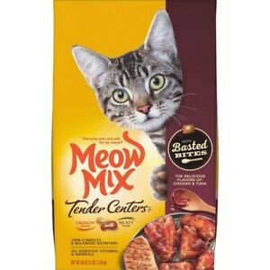 Meow Mix Tender Centers Cat Food 3 lb. Bag