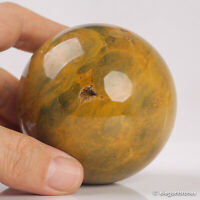 458g 69mm Natural Ocean Jasper Quartz Crystal Sphere Healing Ball Chakra Decor