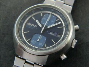 VTGE SEIKO JOHN PLAYER SPECIAL 6138 8030 AUTOMATIC CHRONOGRAPH.  SERVICED. 70s