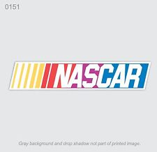 NASCAR racing color logo decal sticker