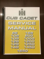 International Harvester Cub Cadet 86 108 109 128 129 149 Tractor Service Manual