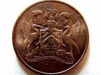 1967 Trinidad & Tobago One (1) Cent Coin