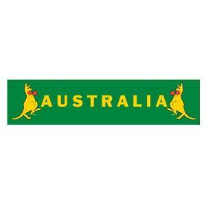 Australian Boxing Kangaroo Banner One Side Printed - approx 20cm x 84cm