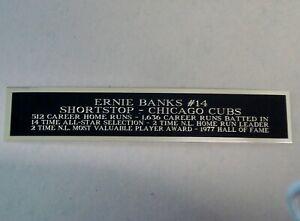 Ernie Banks Baseball Card Display Case Engraved Nameplate 1.5 X 8