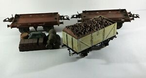 Vintage Hornby O OO Gauge 'Flat Truck Wagon Rolling Stock 1930 & Cooper-Craft