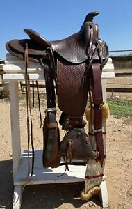 """14"""" Porter Ranch Saddle w/ Tapaderos - Vintage & Lookin' GOOD - Collect or Ride"""