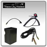NASCAR Race Car Wire Harness for BAOFENG + Velcro Mount PTT Switch + Radio Box